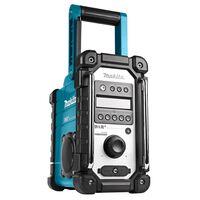 Makita Baustellenradio ohne Akkus und Ladegerät Blau und Schwarz