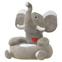 vidaXL Plüsch-Kindersessel Elefant Grau