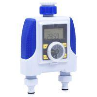vidaXL Elektronischer Wasser-Timer mit zwei Ausgängen Regenverzögerung