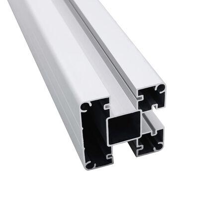 vidaXL Zaunpfosten 2 Stk. Aluminium 185 cm, Silber
