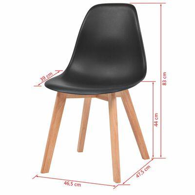 vidaXL Esszimmerstühle 4 Stk. Schwarz Kunststoff