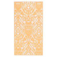 vidaXL Outdoor-Teppich Orange und Weiß 80x150 cm PP