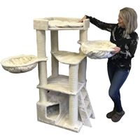 RHRQuality Corner Coon Kratzbaum für große Katzen - 60x56x151 cm