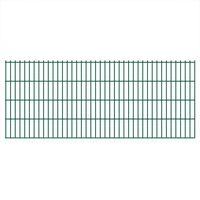 vidaXL 2D Gartenzaun-Elemente 2,008x0,83 m Gesamtlänge 18 m Grün