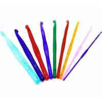 9 Mehrfarbige Acryl-häkelhaken (3mm-12mm Set) - Zum Stricken