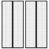 vidaXL Insektenschutz Türvorhänge 2 Stk. mit Magnet Schwarz 210x90 cm