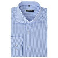 vidaXL Herren Business-Hemd weiß und blau gestreift Gr. S