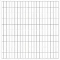 vidaXL 2D Gartenzaun-Elemente 2,008x2,03 m Gesamtlänge 34 m Silbern