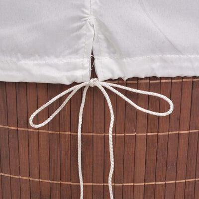 vidaXL Bambus-Wäschekorb Oval Braun