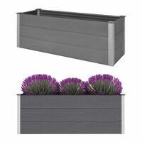 vidaXL Garten-Hochbeet WPC 150 x 50 x 54 cm Grau