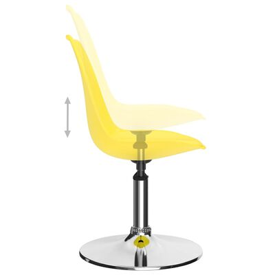 vidaXL Drehbare Esszimmerstühle 6 Stk. Gelb Kunstleder