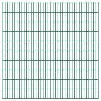 vidaXL 2D Gartenzaun-Elemente 2,008x2,03 m Gesamtlänge 12 m Grün