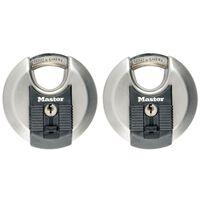 Master Lock Disc Schloss Excell Edelstahl 2er-Pack 70 mm M40EURT