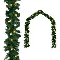 vidaXL Weihnachtsgirlande mit LED-Lichtern 5 m