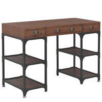 vidaXL Schreibtisch mit 3 Schubladen 110x50x78 cm Massivholz Tanne