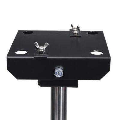 vidaXL Einstellbarer Haustier-Haartrockner-Ständer Einzelmotor Schwarz