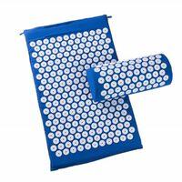 Nagelmatte Mit Kissen Für Massage Und Entspannung Blau