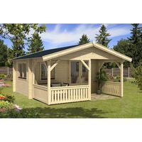 Alpholz Gartenhaus Modell Flex 50-A mit 200 cm Terrasse