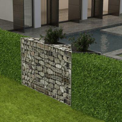 vidaXL Gabionenkorb Pflanzkasten Gemüse-Hochbeet Stahl 120×30×100 cm,