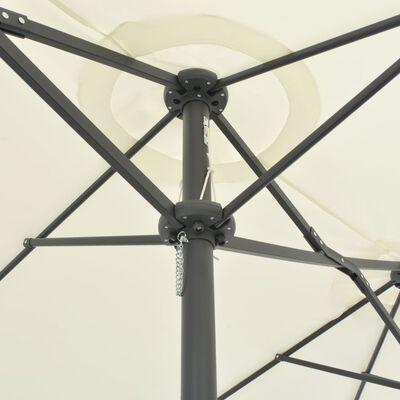 vidaXL Sonnenschirm mit Aluminium-Mast 460 x 270 cm Sand