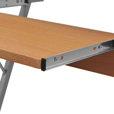 Computertisch Computerwagen PC Tisch Bürotisch Laptop auf Rollen braun, Brown