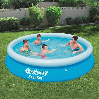Bestway Fast Set Aufblasbarer Swimmingpool Rund 366x76 cm 57273 ,