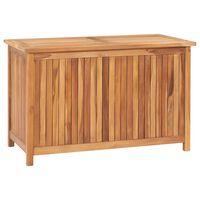 vidaXL Gartenbox 90x50x58 cm Massivholz Teak