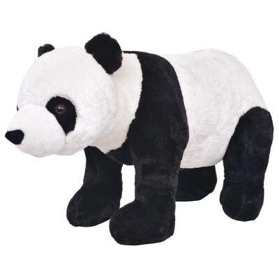 vidaXL Plüschtier Stehend Panda Schwarz und Weiß XXL