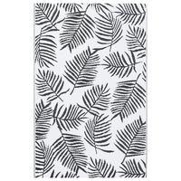 vidaXL Outdoor-Teppich Weiß und Schwarz 120x180 cm PP