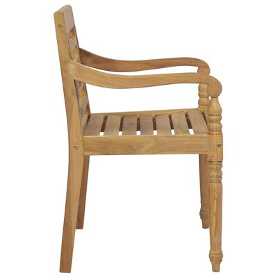 vidaXL Batavia-Stühle mit Kissen 6 Stk. Massivholz Teak