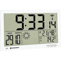 Bresser Wetterstation Funk mit Außensensor MyTime Jumbo LCD, weiß