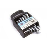 HBM 6-teiliger Kurzring, Ratsche, Schraubenschlüssel in englischer