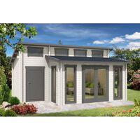 Carlsson Gartenhaus Lausitz-40 ISO mit Anbau