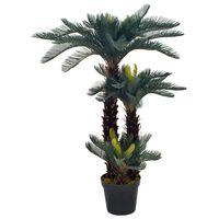 vidaXL Künstliche Pflanze Cycas-Palme mit Topf Grün 125 cm