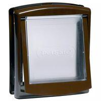 PetSafe 2-Wege-Haustierklappe 730 Klein 17,8x15,2 cm Braun 5018