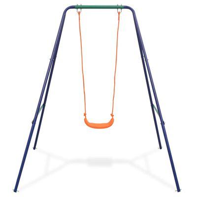 vidaXL 2-in-1 Einzelschaukel und Kleinkinderschaukel Orange,