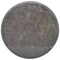 vidaXL Tischplatte Schwarz Ø60x2,5 cm Marmor