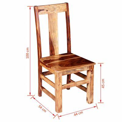 vidaXL Esszimmerstühle 2 Stk. Massivholz
