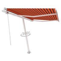 vidaXL Standmarkise Automatisch 300x250 cm Orange/Braun