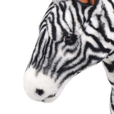 vidaXL Plüschtier Stehend Zebra Schwarz und Weiß XXL