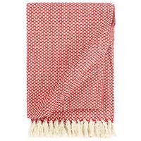 vidaXL Überwurf Baumwolle 125x150 cm Rot