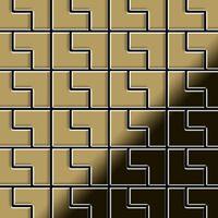 Alloy Kink-ti-gm Metallmosaik Titan Gold