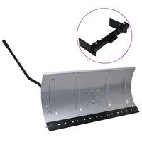 vidaXL Schneeschild für Rasentraktor mit Adapter 100 cm
