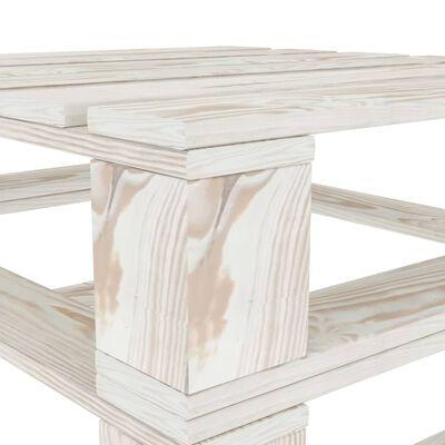 vidaXL Garten-Palettentische 2 Stk. Weiß Holz