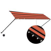 vidaXL Einziehbare Markise mit LED 400×150 cm Orange und Braun