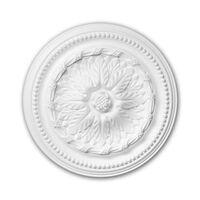 Profhome Decor 156007 Rosette Weiß
