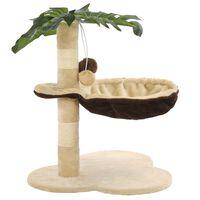 vidaXL Katzen-Kratzbaum mit Sisal-Kratzstange 50 cm Beige und Braun