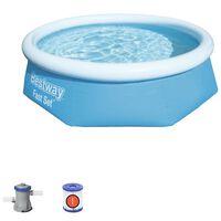 Bestway Schwimmbecken Fast Set Rund 244x66 cm Blau