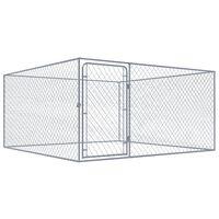 vidaXL Outdoor-Hundezwinger Verzinkter Stahl 2x2x1 m