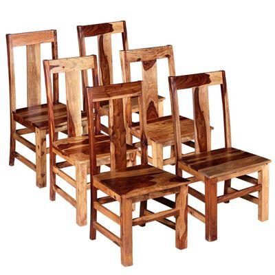 vidaXL Esszimmerstühle 6 Stk. Massivholz,